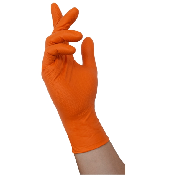 ThermoDyn gloves disposable - orange